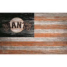San Francisco Giants Distressed Flag 11x19