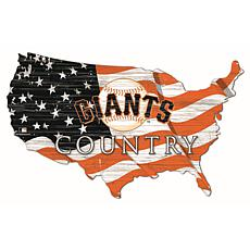 San Francisco Giants USA Shape Flag Cutout