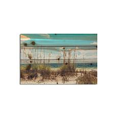 """Sand Dunes 12"""" x 18"""" Print on Wood"""