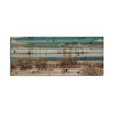 "Sand Dunes Long 19""x 45"" Print on Wood"