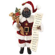 Santa's Workshop 12'' African-American Santa with List