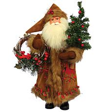 Santa's Workshop 15' Cardinal and Berries Santa Figurine