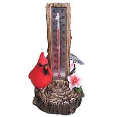 Santa's Workshop Cardinal Thermometer