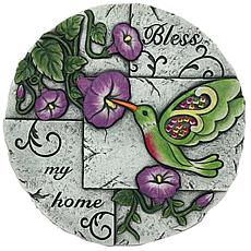 Santa's Workshop Cement Hummingbird Stepping Stone