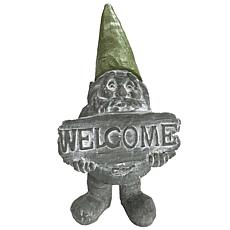 Santa's Workshop Cement Welcome Gnome