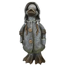 Santa's Workshop Cold Cast Raincoat Duck Figurine