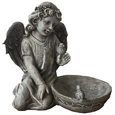 Santa's Workshop Kneeling Angel Bird Feeder