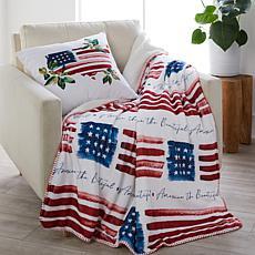 Sara B. America the Beautiful Pillow & Throw Set