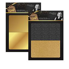 Sara Signature Black & Gold Mirror and Glitter Cards