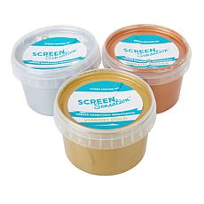 Screen Sensation Silver, Copper & Gold Metallic Inks 3-pack
