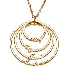 Script 4-Name Circles Necklace
