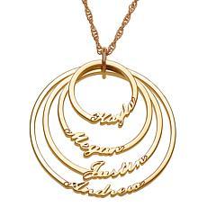 Script 4-Name Circles Necklace