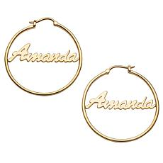 Script Name Medium 35mm Hoop Earrings