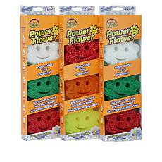 Scrub Daddy® Power Flower Scratch-Free Sponges 9-pack