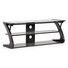 Sculpten Dark Brown and Black Modern TV Stand