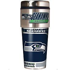 Seattle Seahawks Travel Tumbler w/ Metallic Graphics and Team Logo