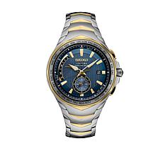 Seiko Men's 2-Tone Navy Stainless Steel Bracelet Watch