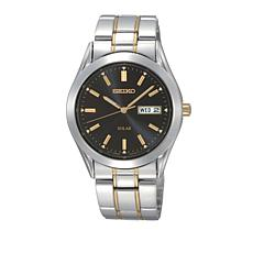 Seiko Men's 2-Tone Stainless Steel Solar-Powered Bracelet Watch