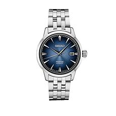 Seiko Men's Black Stainless Steel Diver's Automatic Watch