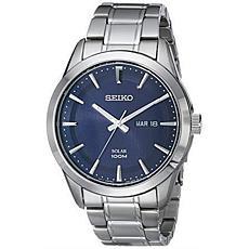 Seiko Men's Blue Dial Solar Bracelet Watch
