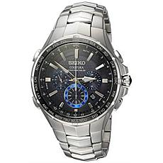 Seiko Men's Coutura Stainless Steel Radio Sync Solar Bracelet Watch