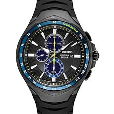 Seiko Men's Jimmie Johnston Special Edition Coutura Black Solar Watch