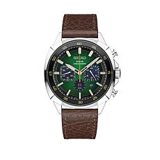 Seiko Recraft Men's Solar Brown Leather Strap Watch