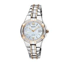 Seiko Women's 2-tone Diamond-Accented Solar-Powered Watch