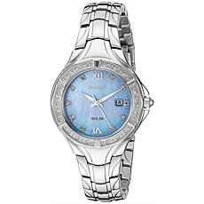Seiko Women's Stainless Steel Diamond Blue Dial Watch