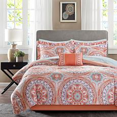 Serenity Full 9pc Complete Bed and Sheet Set - Coral
