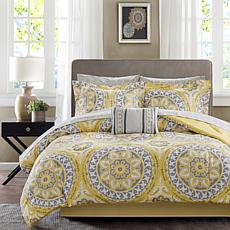 Serenity King 9pc Complete Bed and Sheet Set - Yellow