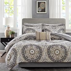 Serenity Queen 9pc Complete Bed and Sheet Set - Taupe