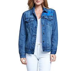 Seven7 Boyfriend Denim Jacket with Embroidered Back Detail -Virgo