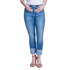 Seven7 High-Rise Tower Skinny with Side Seam and Cuff - Generous