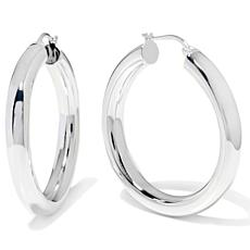 "Sevilla Silver™ 1-3/16"" Diameter Tubular Hoop Earrings"