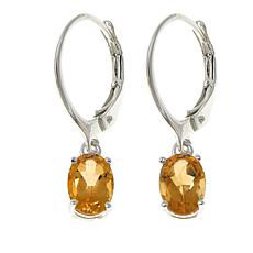 Sevilla Silver™ 1.21ctw Oval Citrine Drop Earrings