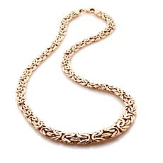 "Sevilla Silver™ 18"" Gold-Plated Graduated Byzantine Necklace"