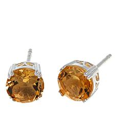 Sevilla Silver™ 2.5ctw Round Citrine Stud Earrings