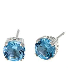 Sevilla Silver™ 3.2ctw Round Blue Topaz Stud Earrings