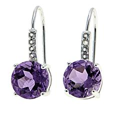 Sevilla Silver™ 3.78ctw Amethyst and White Topaz Earrings