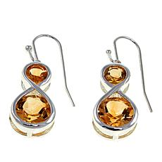 Sevilla Silver™ 4.54ctw Citrine Infinity Drop Earrings