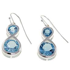 Sevilla Silver™ 5.9ctw Blue Topaz Infinity Drop Earrings