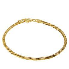 "Sevilla Silver™ 6-3/4"" Gold-Plated Snake Chain Bracelet"