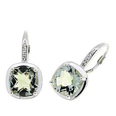 Sevilla Silver™ 7.08ctw Cushion-Cut Prasiolite and Gem Drop Earrings