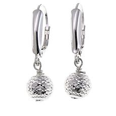 Sevilla Silver™ 8mm Diamond-Cut Bead Drop Earrings