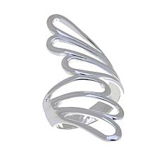 "Sevilla Silver™ Abstract ""Feather"" Bypass Ring"