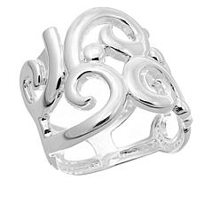 Sevilla Silver™ Abstract Swirl Band Ring