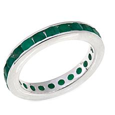 Sevilla Silver™ Channel-Set Emerald Band Ring
