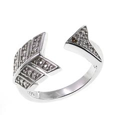"Sevilla Silver™ Diamond-Accent ""Arrow"" Toe Ring"