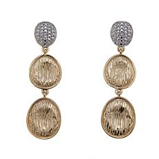 Sevilla Silver™ Diamond-Accented Brushed Drop Earrings